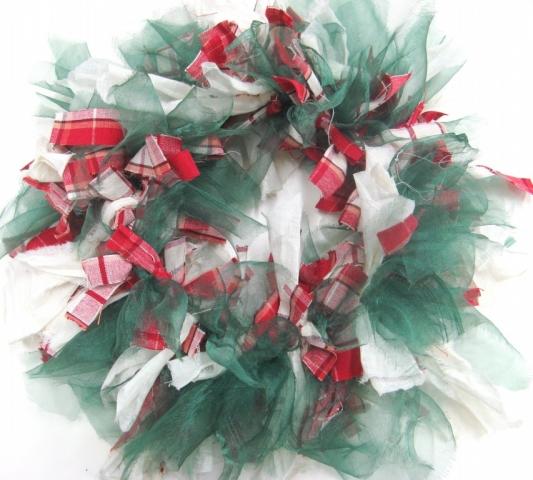 Raggedy Christmas wreath