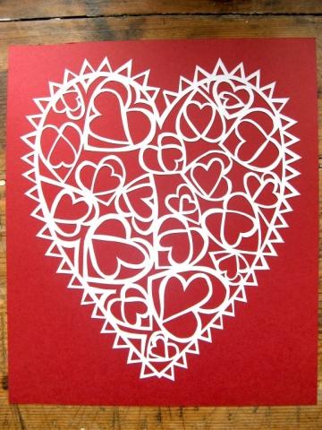 Hand cut Valentine's heart