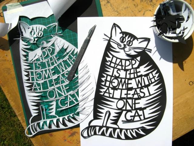 Cat_quote_paper_cut