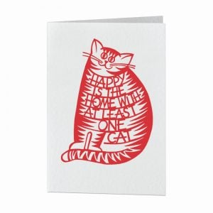 Happy is the home with at least one cat card