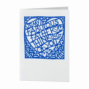 Fabulous father card