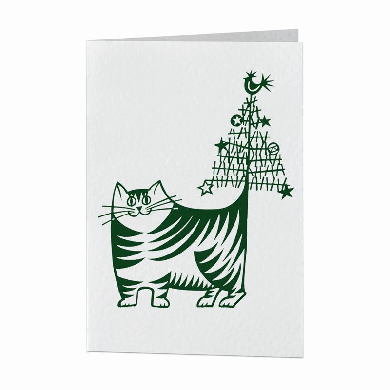 Festive feline card