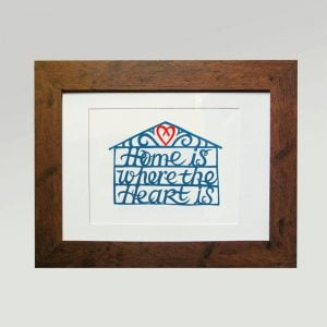 Print - Home is where the heart is