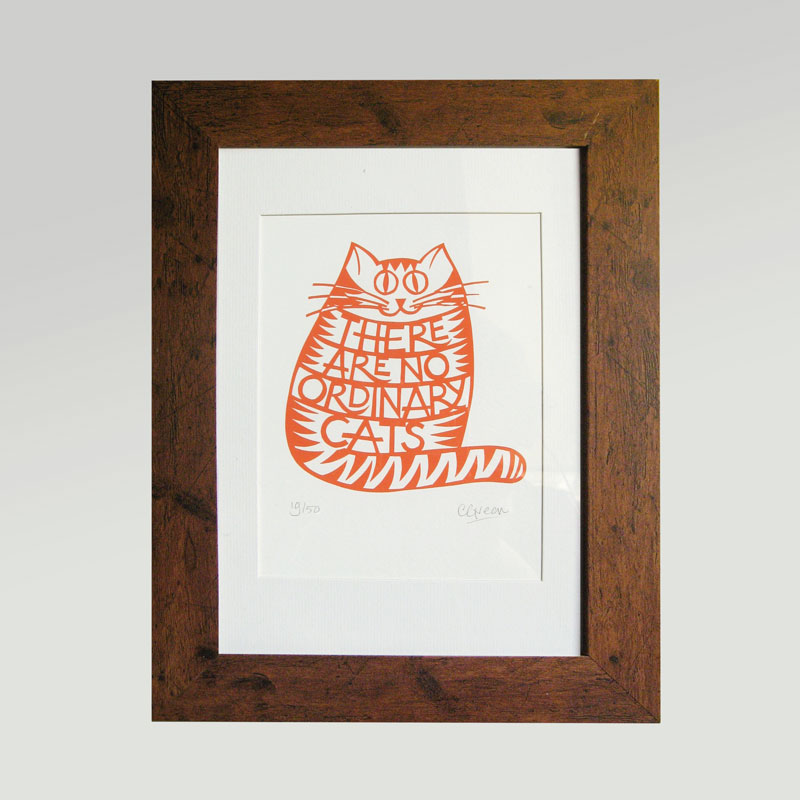 Print - There are no ordinary cats
