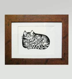 Print - Who can resist a purring cat?