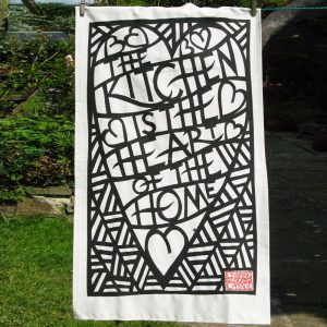 Tea Towel - The kitchen is the heart of the home