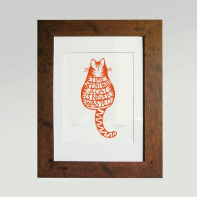 Print - Time spent with a cat is never wasted