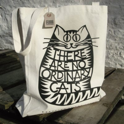 Canvas Bag - There are no ordinary cats